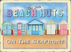 Large Retro Vintage Deck Chairs Seaside Fun Metal Steel Gift Sign Plaque