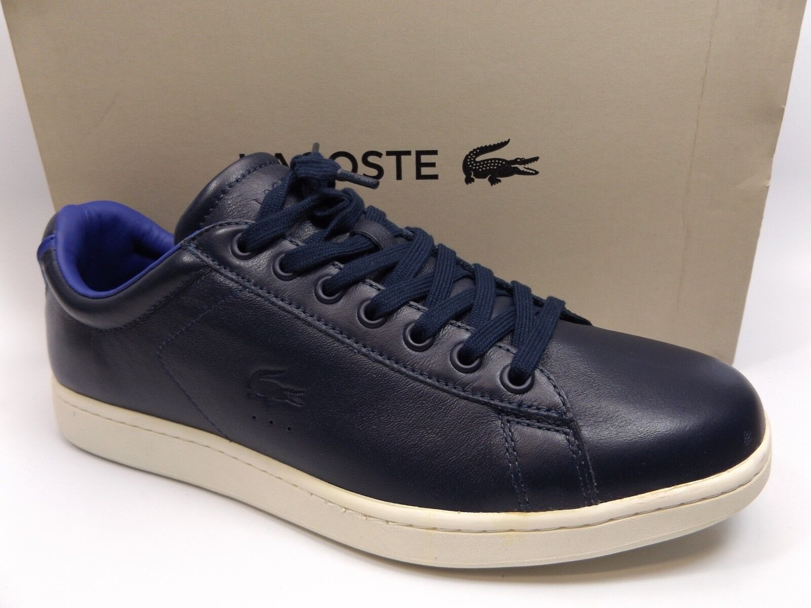 MEN'S LACOSTE CARNABY EVO 316 I CAM SZ 11.0 M NAVY LEATHER, NEW DISPLAY, D9730