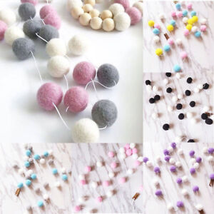 Multi-Colors-Felt-Ball-Garland-Bunting-Banner-Party-Birthday-Decor-Pom-Pom-Kids