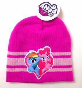 MY-LITTLE-PONY-BEANIE-Rainbow-Dash-amp-Pinkie-Pie-Heart-Winter-Knit-Hat-Women-amp-Teen