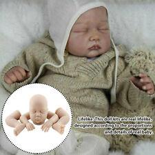 55cm Unpainted Reborn Kits with Head 3//4 Arms Legs Soft Vinyl Blank DIY Doll