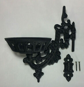 New-9-034-Cast-Iron-Wall-Bracket-For-Oil-Lamps-Early-American-Victorian-Style