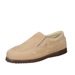 Chaussures Hommes HOGAN 39 Ue à Enfiler Beige Cuir Nubuck BN135-39