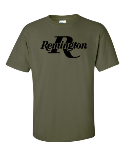 Remington Black Logo T-Shirt 2nd Amendment Pro Gun Brand Tee Rifle Shotgun New