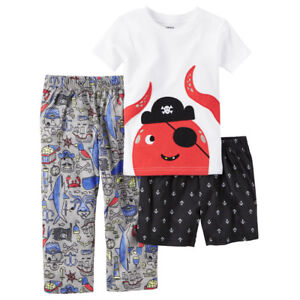 c124ab7e4 Carter s Pirate Octopus 3-Piece Pajamas Sleepwear Set Toddler Boy ...