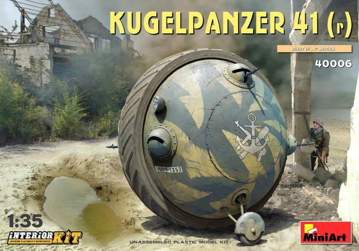 Miniart 1 35 Kugelpanzer 41(r) Tank Vehicle With Interior Model Kit