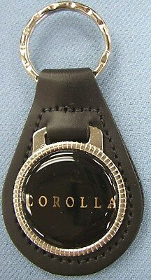 Toyota Corolla Black Leather Key Ring