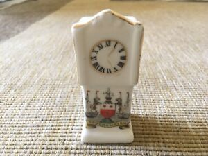 Vintage-Crested-China-Southampton-Grandfather-Clock-Czechoslovakia-Collectible