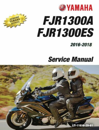 Yamaha FJR1300 2016 2017 2018 FJR 1300 service manual on CD