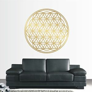 wandtattoo wandaufkleber ornament blume des lebens lebensblume symbol 479 xl ebay. Black Bedroom Furniture Sets. Home Design Ideas
