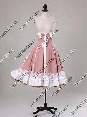 Sweet Lolita Princess Cosplay Midi Skirt Theater Steampunk Clothing V K038 XL