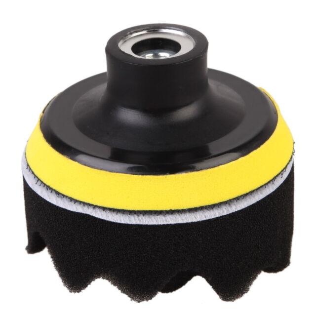 7 Pcs 3 inch Buffing Pad Auto Car Polishing Wheel Kit Buffer + M14 Drill Adapter