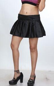 4d76c8393 Women's Plaid Short Skirt School Girl Black Pleated Mini Skirt ...