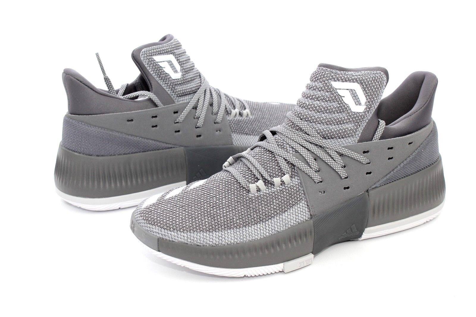 Adidas Damian Lillard Dame 3 Grey White BY3193 Basketball Shoes Size 11.5 US NIB