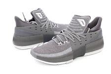 the latest b3307 9c489 Adidas Damian Lillard Dame 3 Grey White BY3193 Basketball Shoes Size 10 US  NIB
