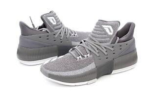 meet 0bb58 dbaed Image is loading Adidas-Damian-Lillard-Dame-3-Grey-White-BY3193-