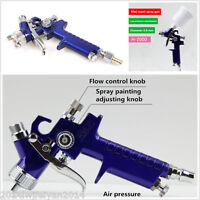 MINI HVLP AIR PAINT SPRAY GUN Tool Car Detail Gravity Feed Painting 0.8mm Nozzle