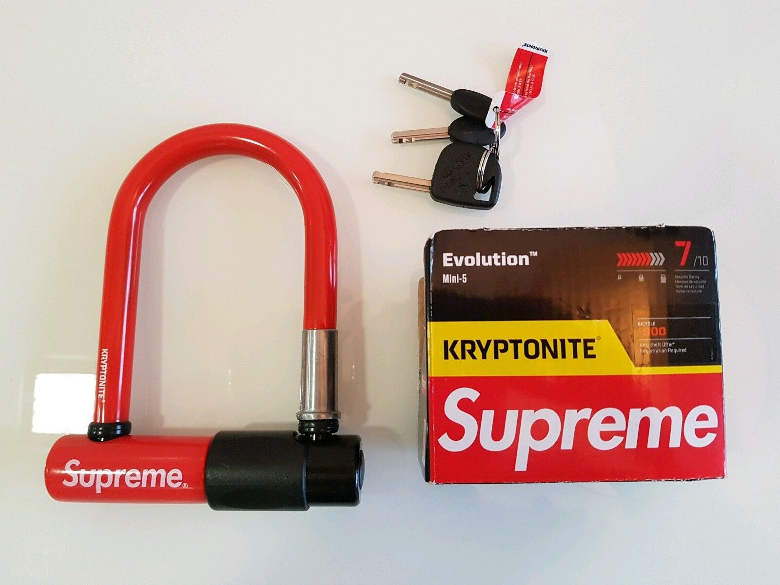Supreme Kryptonite Evolution Mini 5 U-lock