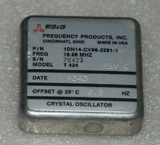 EG&G 1DN14-CV90-2201-1 CRYSTAL OSCILLATOR 10MHz sinewave +12V MADE IN USA