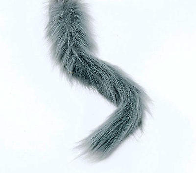 Grey Fury Animal Tail Wolf Withces Cat Halloween Fancy Dress