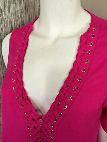 Blouse Hot Cold Bnwt Size Biba Shoulder Pink Eyelet 8 URXzv
