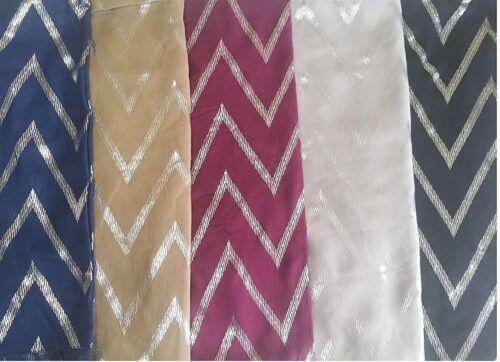 Paillettes Imprimé Écharpe Zigzag Wraps Châle doux Echarpes