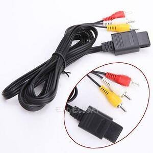 AV-Audio-Video-A-V-TV-Game-Cable-Cord-for-Nintendo-64-N64-GameCube-NGC-SNES-SFC