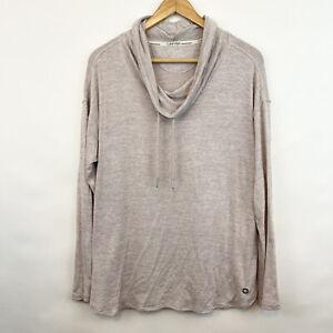Calvin Klein Performance Cowl Neck Blush Sweatshirt Pullover Soft Stretch M Med