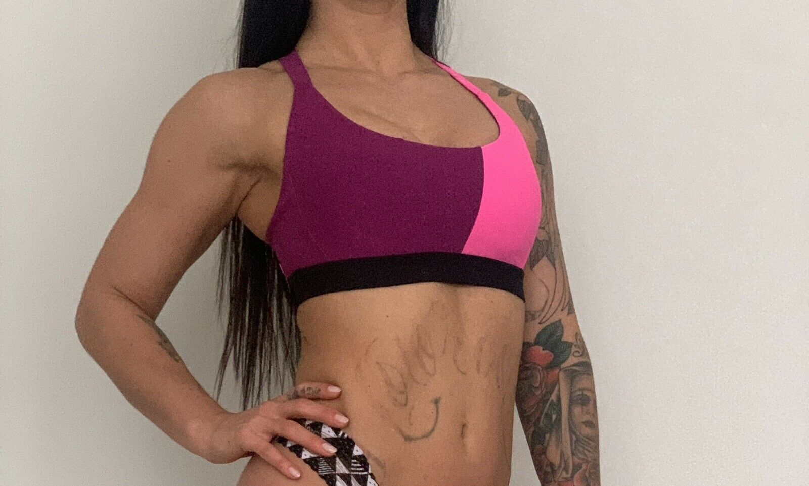 Soul by SoulCycle Cross Color Bra BURGUNDY - Size Small