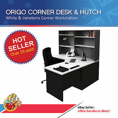 Home Office Corner Workstation Desk With Hutch Computer Study Furniture Desks