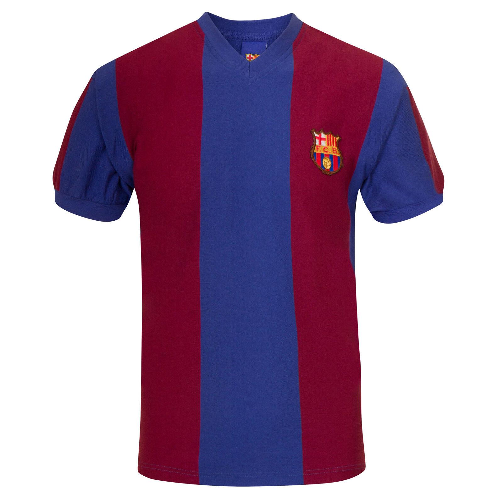 FC Barcelona Official Soccer Gift Mens 1974 1979 Retro Home Kit Shirt