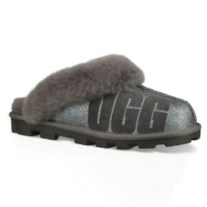 e41308768f7 Details about UGG Coquette Sparkle Women's Slippers (Size 6, 7, 8) Charcoal  1098190 Glitter