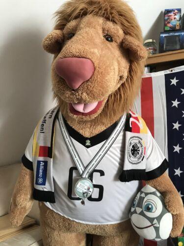 XXL Löwe Goleo von Nici, Rarität 210 cm, Offizielle Maskottchen der FIFA WM 2006