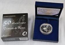 10 euro españa 2007 los Tratados de Roma plata 925 en estuche pp