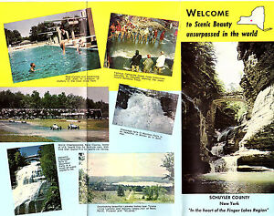 Details about Schuyler County NY Finger Lakes Region Vintage 1964 Travel  Brochure Photos Map