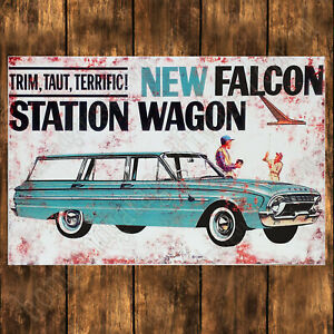 ALUMINIUM-SIGN-200MM-X-285MM-1963-FORD-FALCON-STATION-WAGON