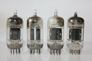 4 x GE Black Plate, D getter, 5814 / 12AU7 tubes, Tested Good ! (6-7)
