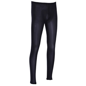 Sexy Mens See Through Mesh Long Pants Leggings Fitness Trousers Tight Underwear