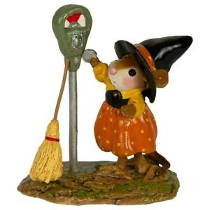 Wee-Forest-Folk-PARKING-FOR-A-SPELL-WFF-M-677-Witch-Halloween-Mouse-2019