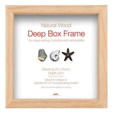 "5b0822c97f3 Innova Natural Wooden Brown Standard Deep Box Picture Frame 20 x 20 cm (8"""
