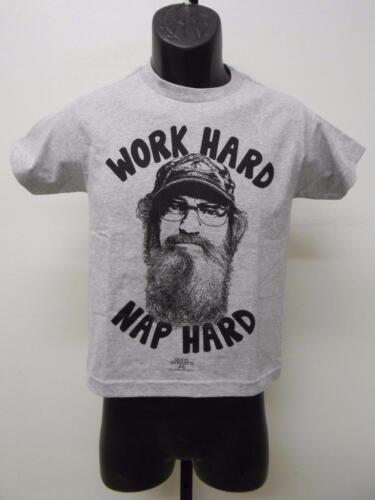 "NEW DUCK DYNASTY /""WORK HARD NAP HARD/"" YOUTH M MEDIUM SIZE 10 T-SHIRT"