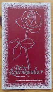 Der Rosenkavalier programme English National Opera ENO 1981 Lois McDonall