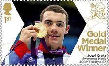 UK ParalympicsGB Gold Medal Winner Single Stamp - Josef Craig MNH 2012