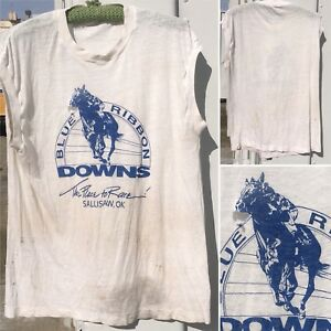 Vintage Blue Ribbon Downs The Place To Race Sallisaw Ok Sleeveless T
