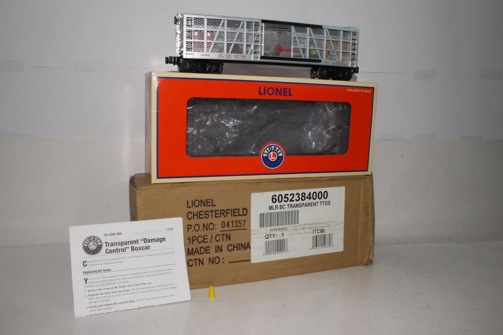 Lionel o Scala  652384 Ttos Trasparente  Danni Controllo  scatola Auto,Illuminati
