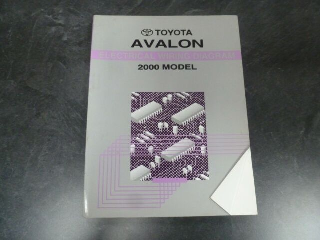 2000 Toyota Avalon Sedan Electrical Wiring Diagrams Manual Xl Xls 3 0l V6