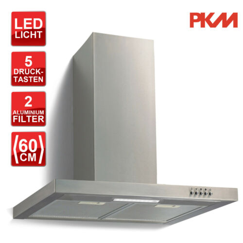 C LED Beleuchtung Einbaubreite 60cm PKM 6004W Edelstahl Dunstabzugshaube EEK