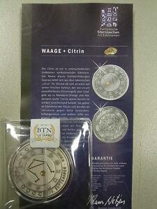 1-Medaille-034-Europaeische-Sternzeichen-mit-Edelsteinen-034-Waage-mit-Zertifikat