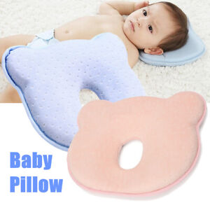 Soft-Baby-Cot-Pillow-Prevent-Flat-Head-Memory-Foam-Cushion-Sleeping