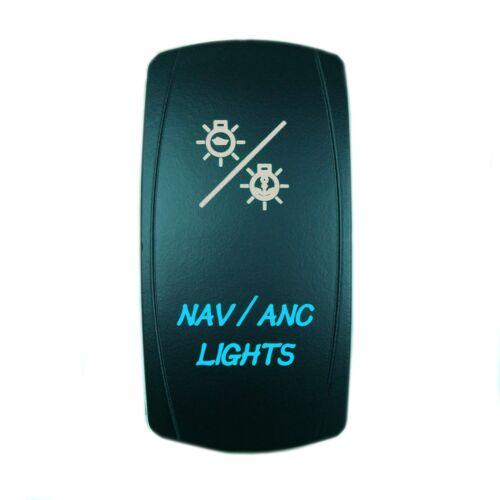 CAN AM MAVERICK COMMANDER BACKLIT BOAT ROCKER SWITCH LED NAV//ANC BLUE